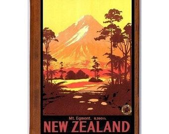 NEW ZEALAND 1- Handmade Leather Photo Album - Travel Art