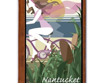 NANTUCKET 1- Handmade Leather Photo Album - Travel Art