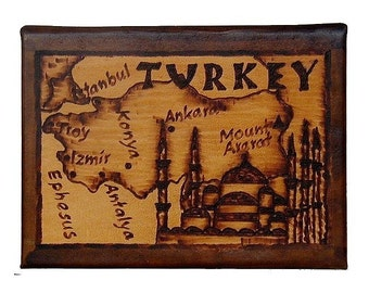 TURKEY - Leather Travel Photo Album - Handcrafted
