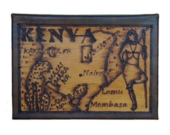 KENYA - Leather Travel Photo Album - Handcrafted