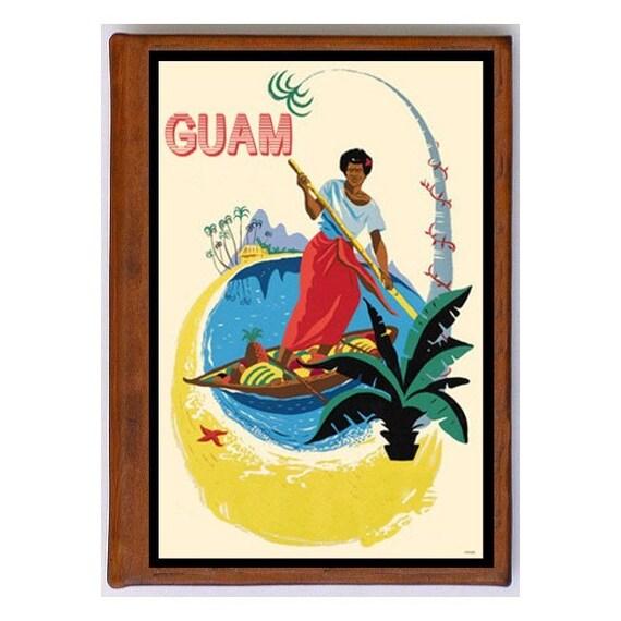 GUAM 1- Handmade Leather Journal / Sketchbook - Travel Art