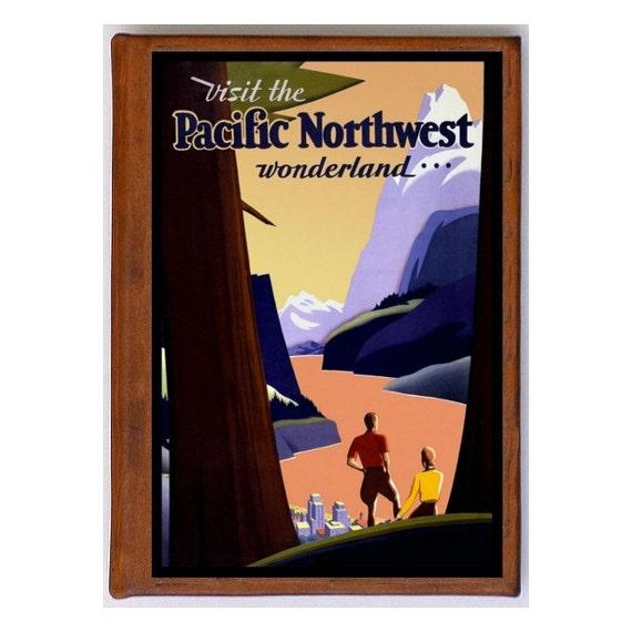 PACIFIC NORTHWEST 1- Handmade Leather Journal / Sketchbook - Travel Art
