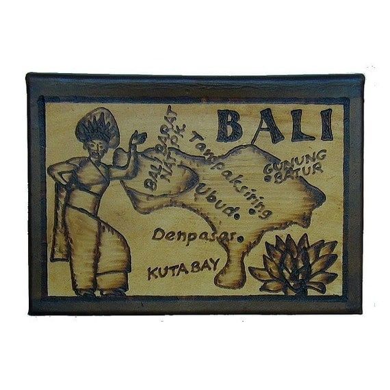 BALI - Leather Travel Scrapbook / Journal - Handcrafted