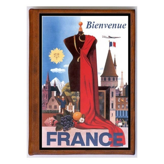 FRANCE 5- Handmade Leather Photo Album - Travel Art