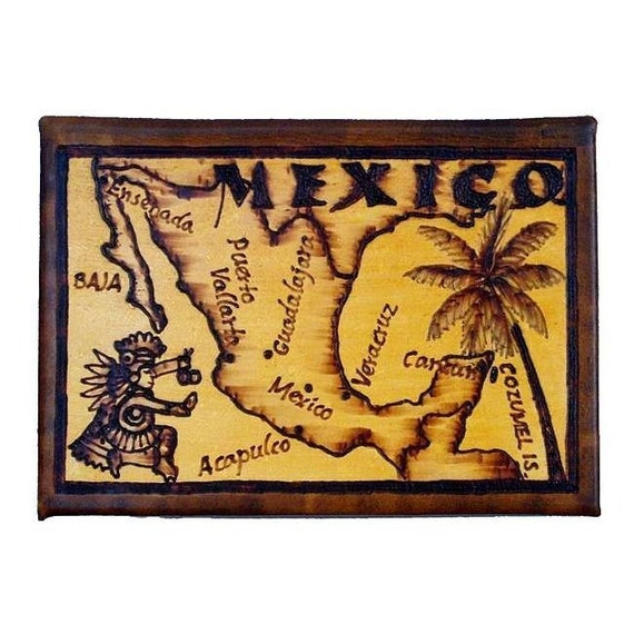 MEXICO - Leather Travel Photo Album - Handcrafted
