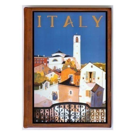 ITALY 6- Handmade Leather Photo Album - Travel Art
