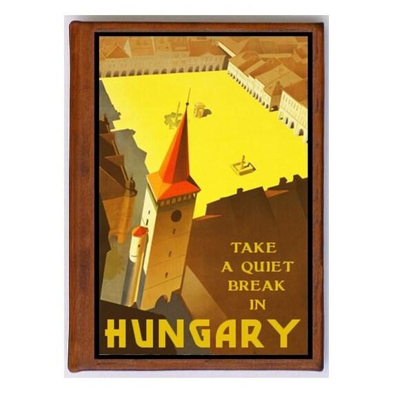 HUNGARY 2- Handmade Leather Photo Album - Travel Art