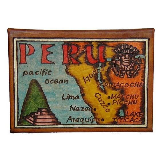 PERU - Leather Travel Photo Album - Handmade