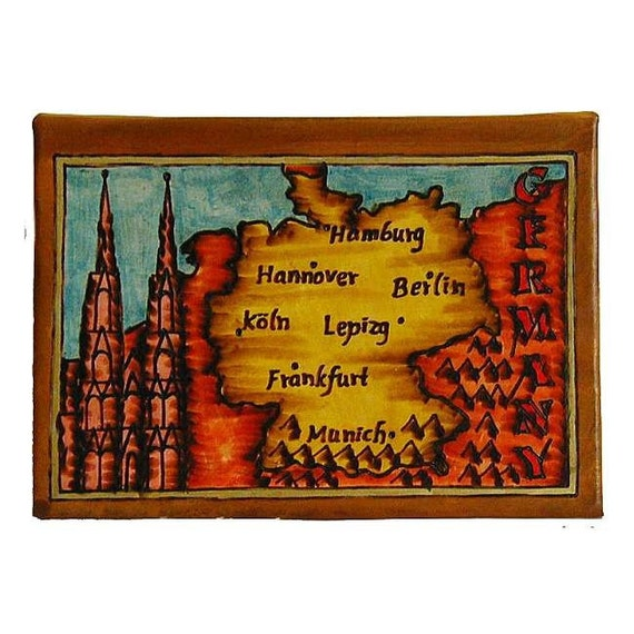GERMANY - Leather Travel Photo Album - Handmade