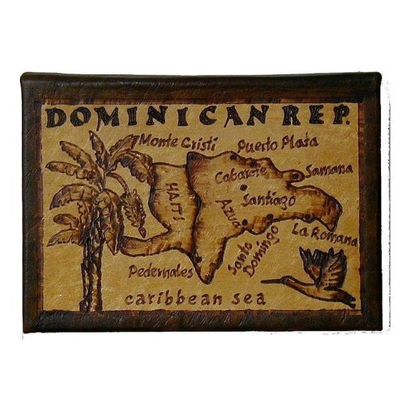 DOMINICAN REP. - Leather Travel Photo Album - Handcrafted