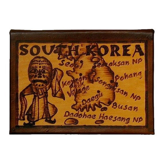 SOUTH KOREA - Leather Travel Photo Album - Handcrafted