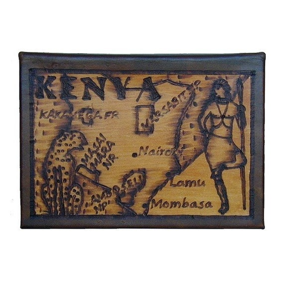 KENYA - Leather Travel Photo Album - Handcrafted