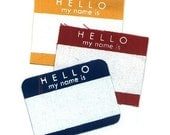 HELLO sticker Patches (set of 3) - Donated by SteamPatchCompany