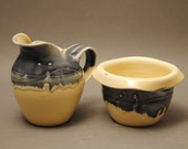 Porcelain Cream and Sugar - Arabesque Collection