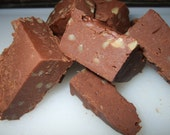 Chocolate Walnut Fudge  gift, birthday, homemade, with Free Shipping