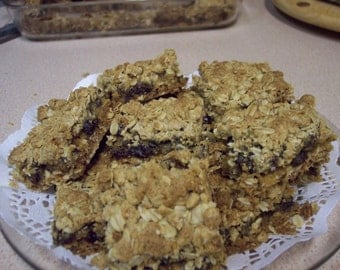 Sour Cream Raisin Bars with free shipping