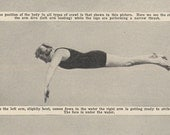 1922 Learn How To Swim The Crawl Forward Plain and Swan Dives Photo Montage