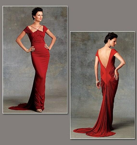 Vogue V1078 Guy Laroche Red Carpet Formal Evening Dress Sewing Pattern  Sizes 6-8-10 Uncut