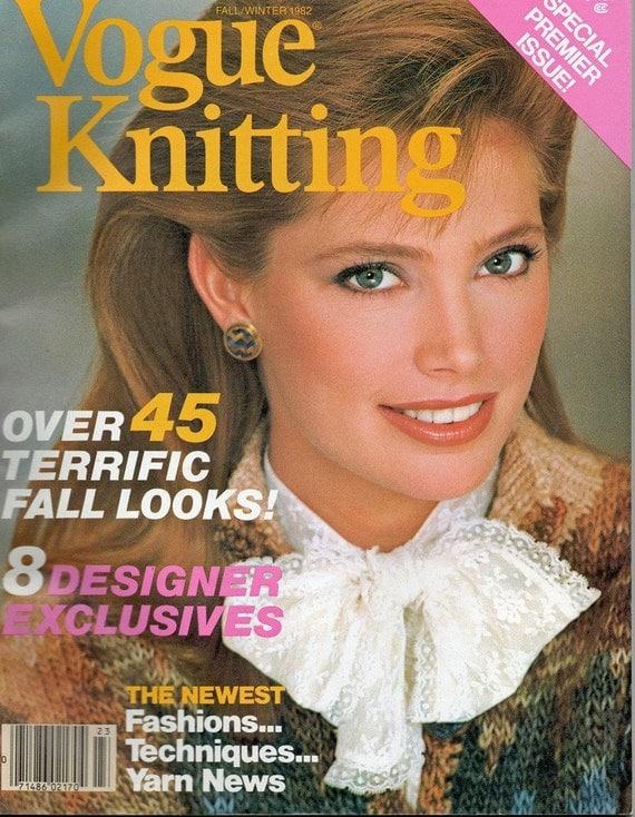 Vintage 1980s Vogue Knitting Magazine Premier Issue Fall/Winter 1982 47 Knit Crochet Patterns