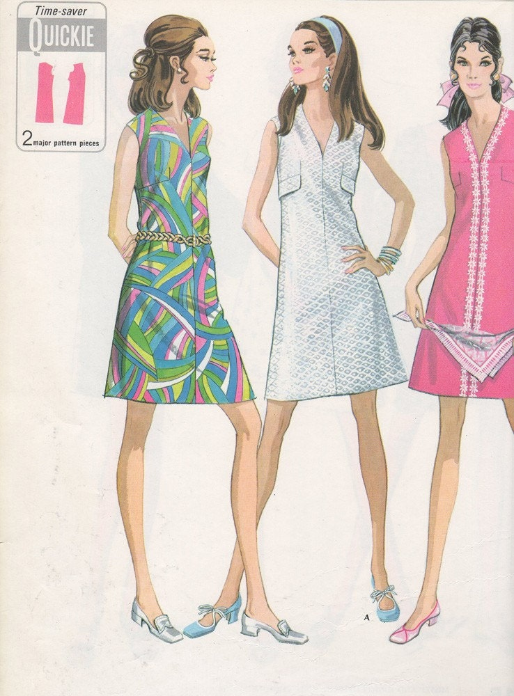 1969 Fashion Illustrations McCalls RESERVED FOR By Sandmarg