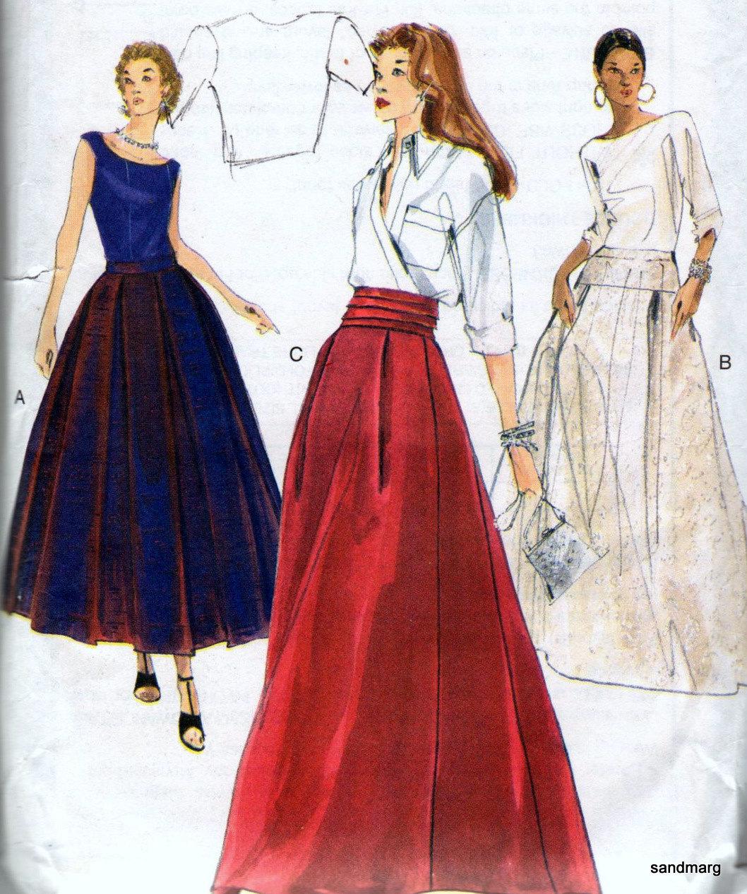 Vogue 7177 Red Carpet Evening Skirt Bridal Wedding Sewing