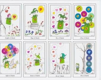 Jester's Tarot, Beth Seilonen, LTD ED 75 Humorous Handcrafted