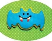 Blue Bat Cookie-Note