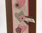 Handmade Wedding, Anniverary or Valentine Card