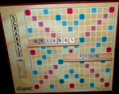 Personalized Scrabble Board Room Designator