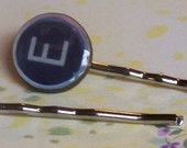 Typewriter Key Hair Clips
