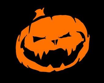 Jack-O-Lantern - Spooky Horror Vinyl Decal