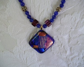 Glass fusion beaded necklace