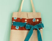 Chocolate-blue Belted Tote