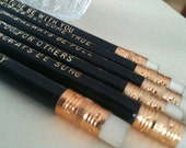Reserved for Nina: 12 sets of Wishes For You custom pencil set Favors - bob dylan