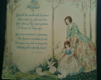 to dear mother - circa 1920 vintage print by Marygold