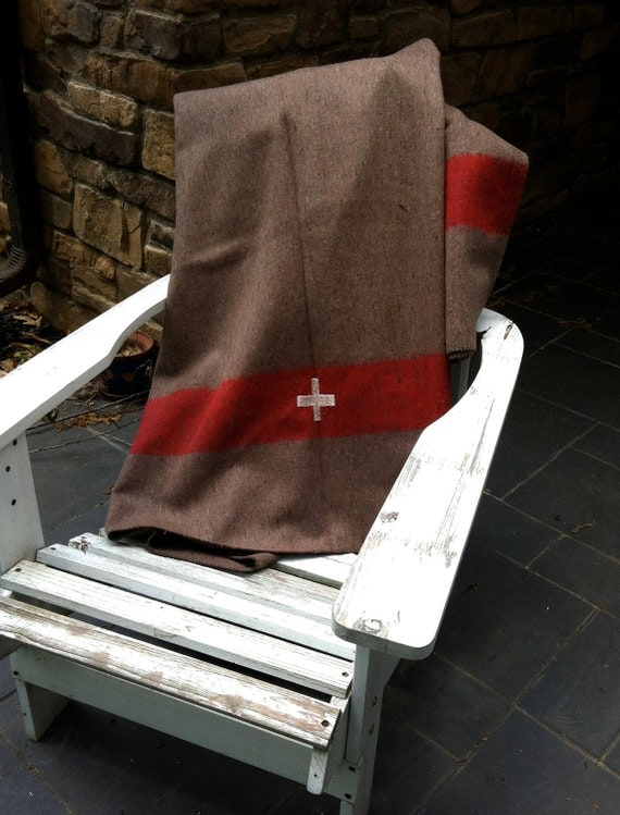 authentic Swiss Army wool blanket