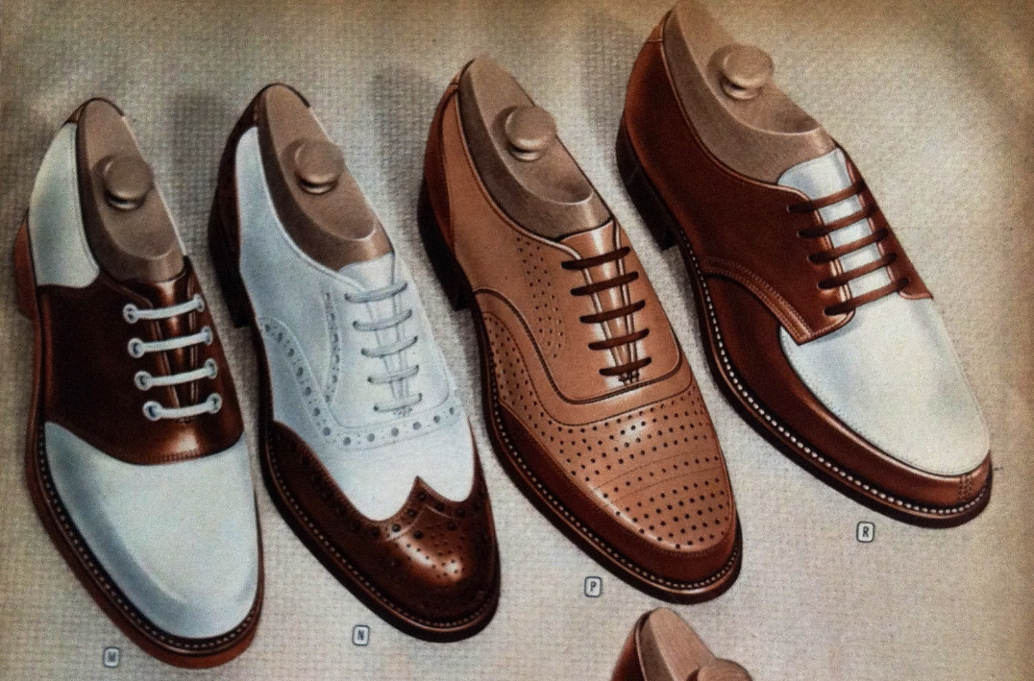 Items Similar To Mens Oxford Shoes - Vintage 1940s Catalog Page On Etsy