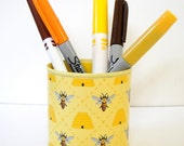 Upcycled Happy Honeybees Can Desk Organizer