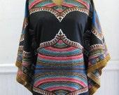 Vintage 70s Bell Sleeve Caftan Dress
