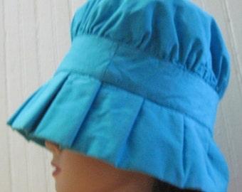 vintage 1960's Super MOD, Bright Turquoise Bucket Sun Hat