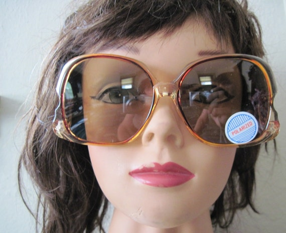 1980s vintage Oversized Sunglasses ... NEVER WORN