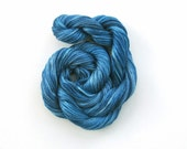 Hand dyed stranded cotton embroidery floss, 20m skein -  blue denim, medium blue, royal blue