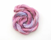 Hand dyed cotton perle 8 embroidery yarn, 30m skein - pastel pink, lilac, pale rose pink