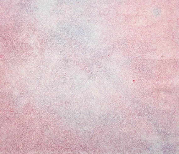 Hand dyed cotton fat quarter - pastel pink, lavender, lilac - white abstract design