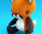 Aiden the Red Fox -  Wool Felt Plush Doll