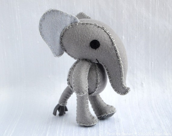 Elephant Plush Art Doll, Munin