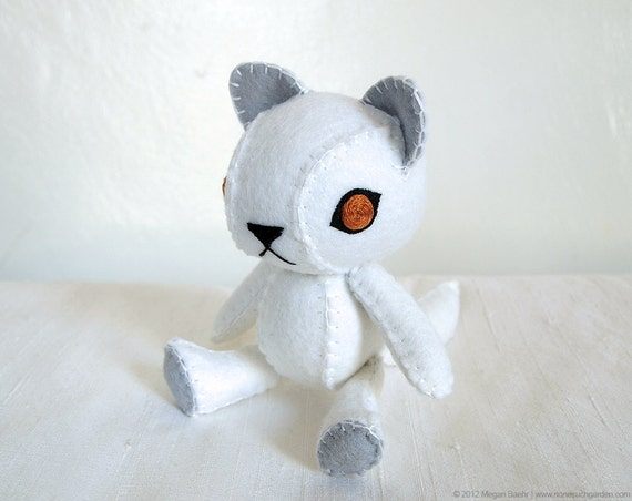 Arctic Fox Plush Art Doll, Tundra