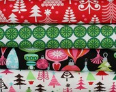 fabric bundle--4 one-half yard pieces (2 yards total) from the Classic Christmas Collection, Michael Miller Fabrics