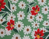SALE---1 yard---Flower in Green, The Happy Campers Collection, Moda Fabrics