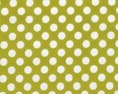 1 yard---Celery Ta Dot, Ta Dot, Michael Miller Fabrics